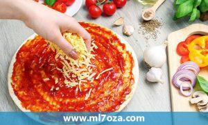 طريقة عجينة البيتزا