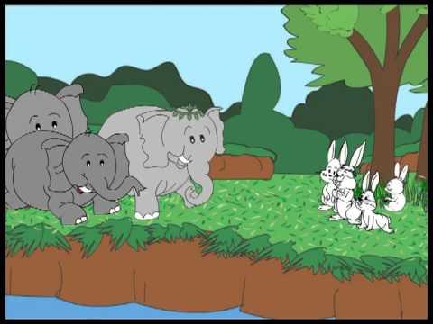 قصة الارنب و الفيل