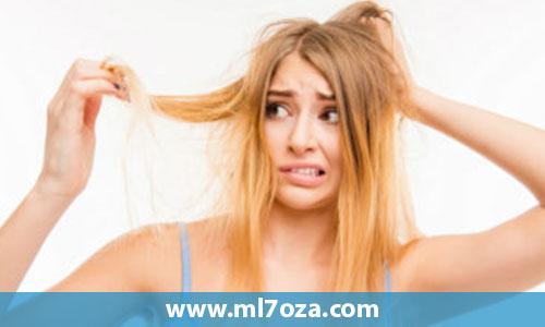 علاج جفاف الشعر وتساقطه