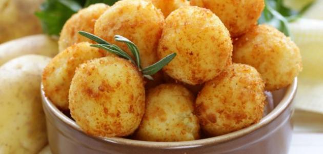 طريقة كرات البطاطس بالفراخ