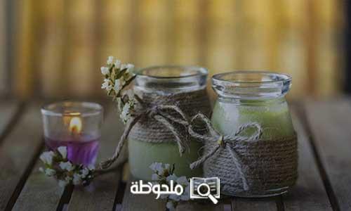 صناعة الشموع العطرية في المنزل